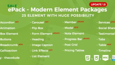 Photo of ePack v1.5 – CSS3 Element Paketleri İndir