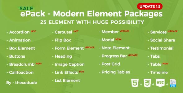 ePack v1.5 - CSS3 Element Paketleri İndir