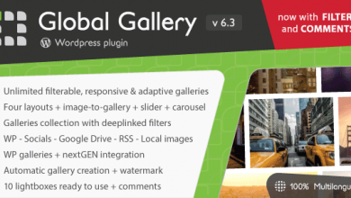 Photo of Global Gallery v6.3.1 – WordPress Responsive Galeri Eklentisi İndir