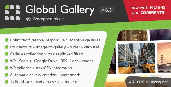 Global Gallery v6.3.1 - WordPress Responsive Galeri Eklentisi İndir