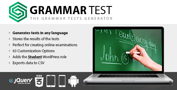 Grammar Test v1.15 - WordPress Test Eklentisi İndir