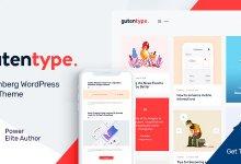 Gutentype v1.7 - Gutenberg WordPress Teması İndir