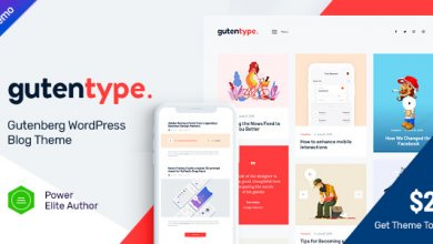 Photo of Gutentype v1.7 – Gutenberg WordPress Teması İndir