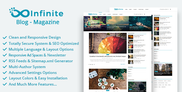 Infinite v3.7 - Blog & Magazin Script İndir