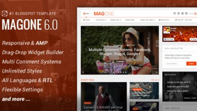 MagOne v6.1.2 - Responsive Haber & Magazin Blogger Teması İndir