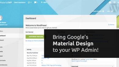Material WP v0.0.52 - WordPress Kullanıcı Paneli Teması İndir