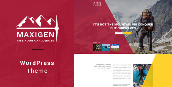 Maxigen v1.2.3 - Yürüyüş ve Dağcı WordPress Teması İndir