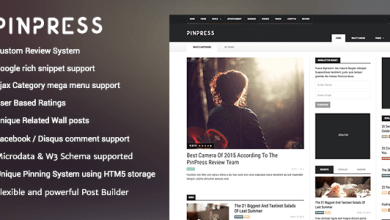PinPress v1.3.3 - WordPress Blog Teması İndir