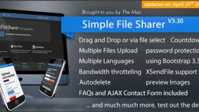 Simple File Sharer v3.30 - Dosya Yükleme & Paylaşma Script İndir