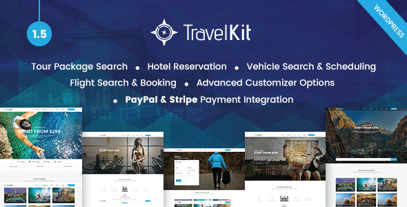Travelkit v1.5 - Tur & Seyahat Teması İndir