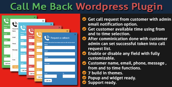 Call Me Back v2.0 - WordPress Bizi Ara Eklentisi İndir