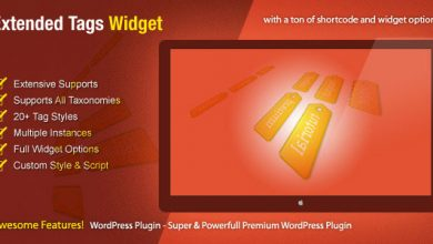 Photo of Extended Tags Widget v1.2.6 – WordPress Premium Eklenti İndir