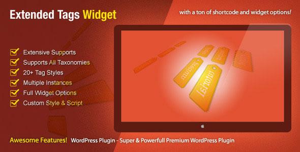Extended Tags Widget v1.2.6 - WordPress Premium Eklenti İndir