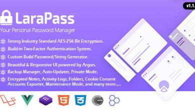 Photo of LaraPass v1.1.0 – Kişisel Şifre Yönetici Script İndir