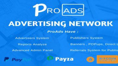 Photo of ProAds v2.6.0 – Online Reklamcılık Script İndir
