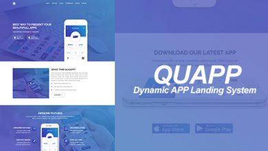 Photo of QUAPP – Tek Sayfalı Uygulama Tanıtım Script İndir