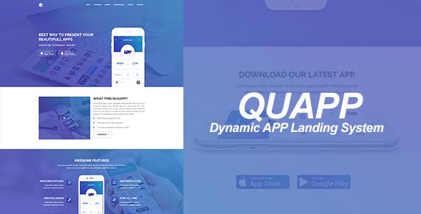 QUAPP - Tek Sayfalı Uygulama Tanıtım Script İndir
