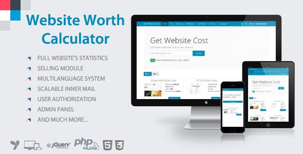 Website Worth Calculator v3.5 - Web Site Değer Hesaplama Script İndir