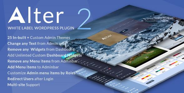 WpAlter v2.3.4 - WordPress Özelleştirme Eklentisi İndir