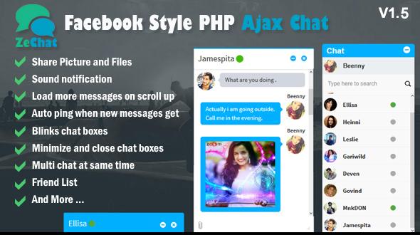 Zechat v1.5 - Facebook Stili Php Ajax Sohbet Script İndir