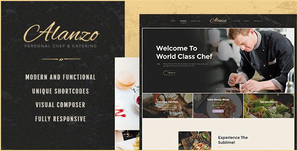 Alanzo v1.0 - WordPress Kişisel Şef ve İkram Teması İndir
