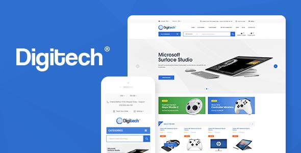 Digitech v1.0.5 - WooCommerce Teknoloji Teması İndir