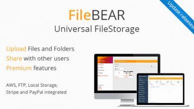 FileBear v1.7 - Premium Dosya Paylaşma Script İndir