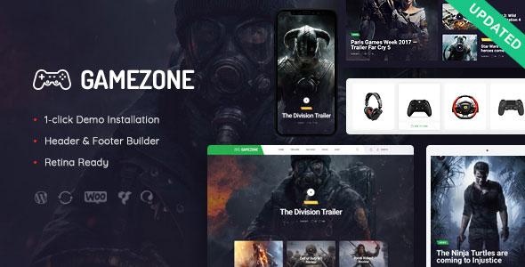 Gamezone v1.0 – WordPress Oyun Blog & Satış Teması İndir