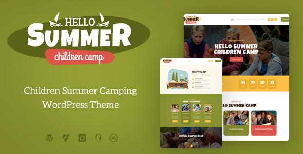 Hello Summer v1.0.1 - WordPress Çocuk Kampı Teması İndir