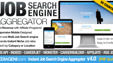 Instant Job Search Engine Aggregator v4.0 İndir