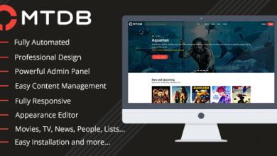 Photo of MTDb v3.0.6 – En İyi Film ve TV Veritabanı Script İndir