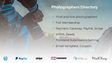 Photo of Photographer Directory v1.0.5 – WordPress Eklentisi İndir