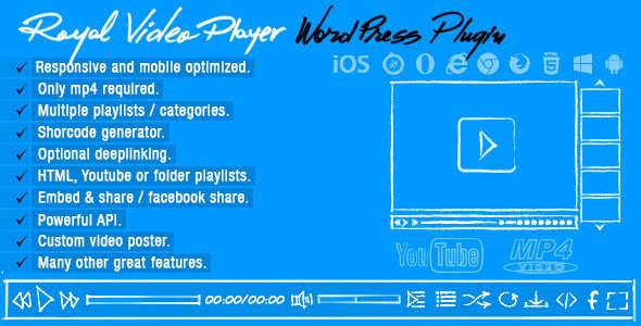 Royal Video Player v3.4 - WordPress Video Player Eklentisi İndir