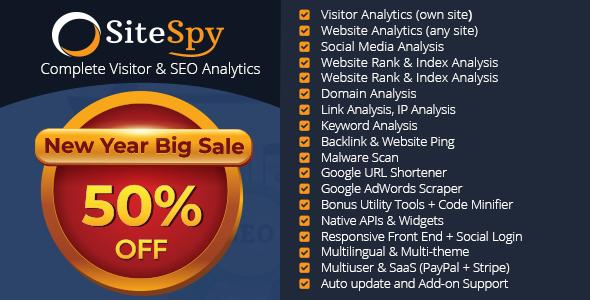 SiteSpy v5.0.1 - Site Analiz ve SEO Analiz Scripti İndir