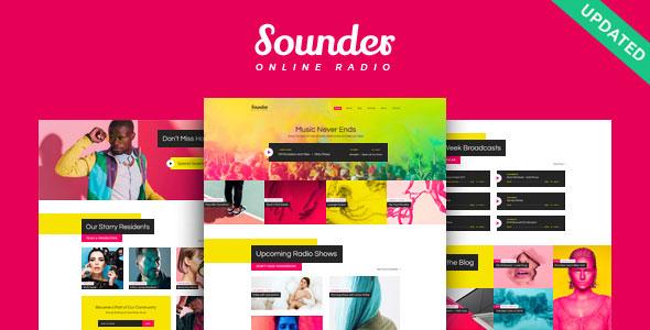 Sounder v1.0.1 – Online Radio WordPress Teması İndir