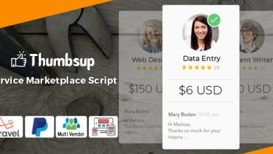 Thumbsup v5.0 - Hizmet Pazarı Script İndir