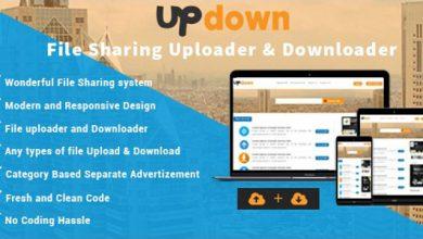 Photo of UpDown v1.3 – Dosya Yükleme & İndirme Script İndir