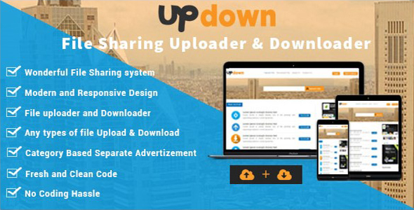 UpDown v1.3 - Dosya Yükleme & İndirme Script İndir