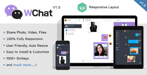 Wchat v1.6 - Responsive PHP AJAX Chat Script İndir