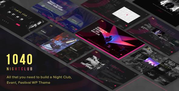 1040 Night Club v1.1.9 - DJ & Parti & Müzik Kulübü Teması İndir