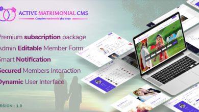 Active Matrimonial CMS v1.8 İndir
