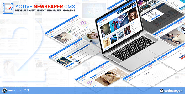 Active Newspaper CMS v2.1 - Haber ve Magazin Script İndir