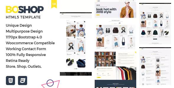 BoShop - Çok Amaçlı e-Ticaret HTML 5 Şablonu İndir