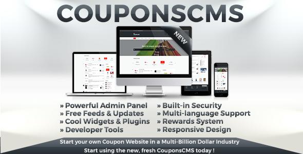 Coupons CMS v7.0 - Ücretsiz Kupon Script İndir