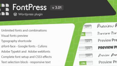 FontPress v3.01 - Wordpress Yazı Tipi Eklentisi İndir