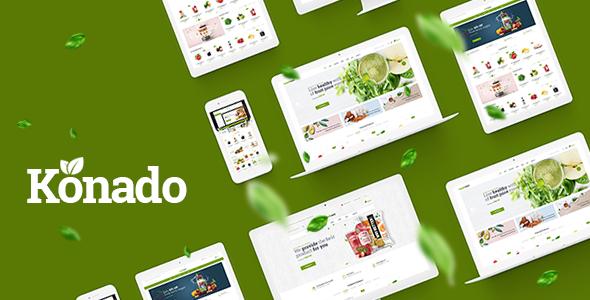 Konado v1.0.2 - WooCommerce Organik Ürün Teması İndir