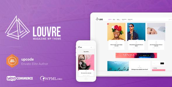 Louvre v1.0.8 - WordPress Minimal Magazin ve Blog Teması İndir