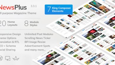 Photo of NewsPlus v3.4.1 – WordPress Haber & Magazin Teması İndir