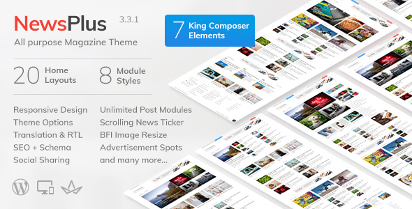NewsPlus v3.4.1 - WordPress Haber & Magazin Teması İndir