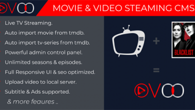 Photo of OVOO v2.5.7 – TV Dizisi ile Film ve Video Akış CMS İndir